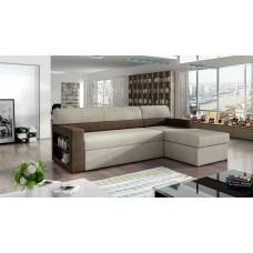 Corner sofa bed Brun